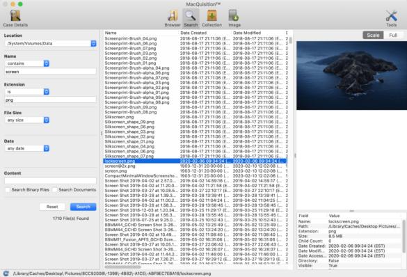 MacQuisition screenshot1