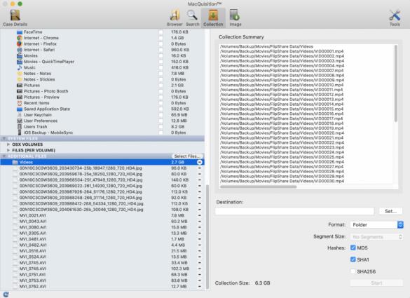 MacQuisition screenshot2