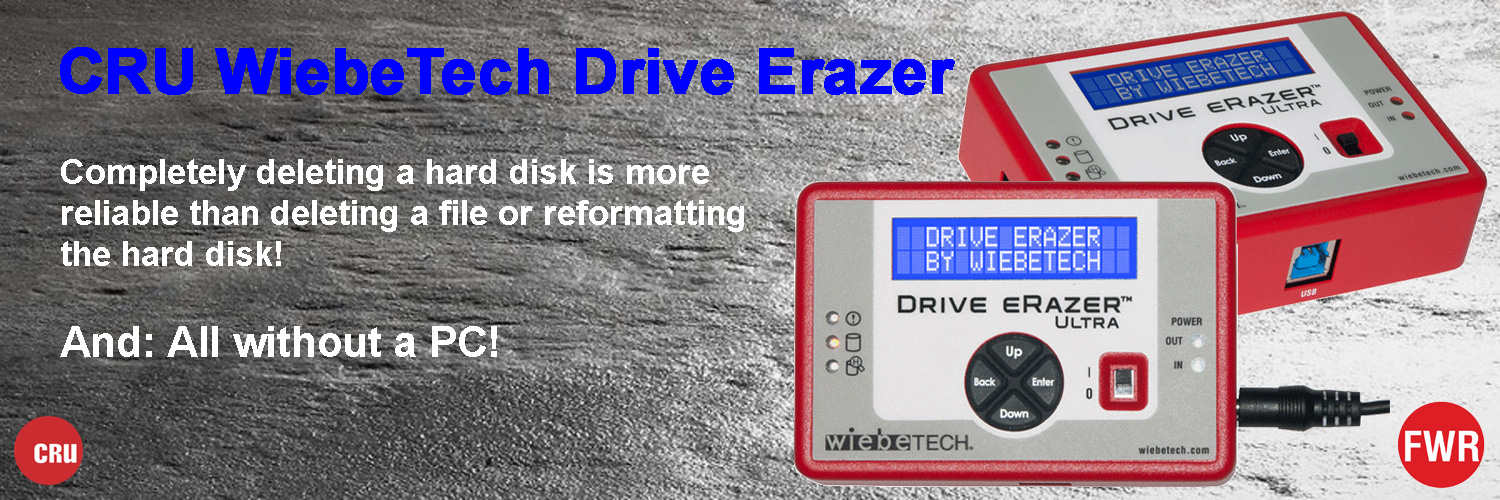 Drive Erazer - a standalone multi-function device that completely erases all data from a hard drive.